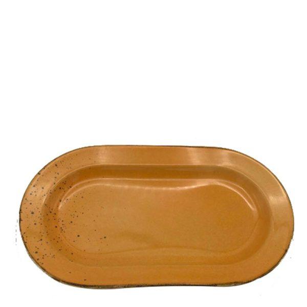 Plate Oval Orange